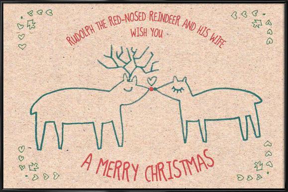 Rudolph Framed Poster