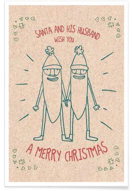 Santa & Husband Poster