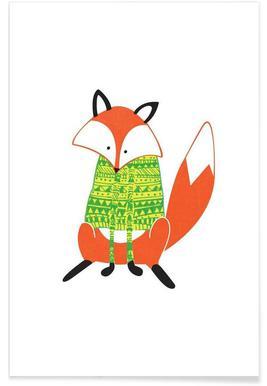 Shirt Fox Affiche