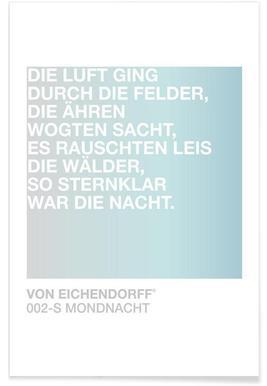 Mondnacht Light 02 -Poster