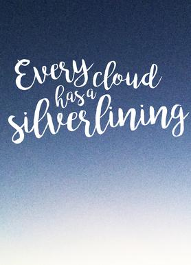 Every Cloud -Leinwandbild