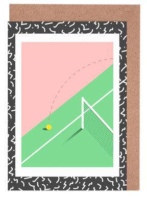Tennis greeting cards juniqe thats out rachel peck greeting card set m4hsunfo