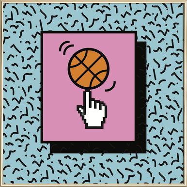 Ball Tricks Poster in Aluminium Frame