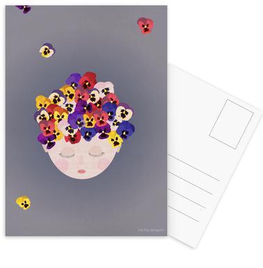 Musings Pansies Postcard Set
