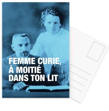 Curie ansichtkaartenset