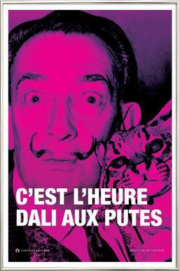 Dali affiche sous cadre en aluminium