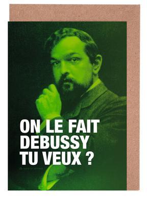 Debussy Set de cartes de vœux