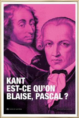 Kant affiche sous cadre en aluminium