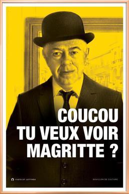Magritte affiche sous cadre en aluminium