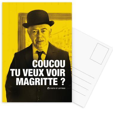 Magritte Set de cartes postales