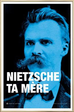 Nietzsche affiche sous cadre en aluminium