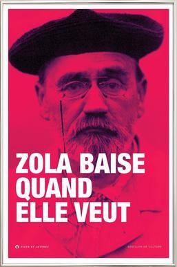 Zola affiche sous cadre en aluminium