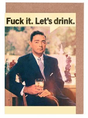 Let's Drink Grußkartenset