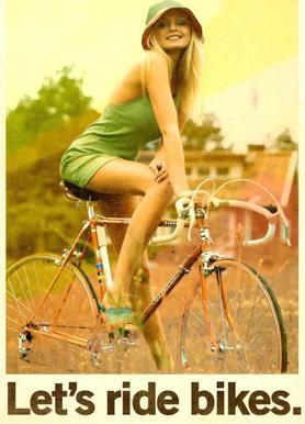 Let's Ride Bikes canvas doek