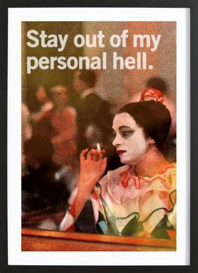 My Personal Hell ingelijste print