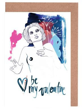 Be My Valentine 1 Greeting Card Set