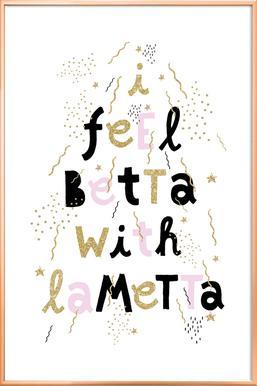 Betta Lametta affiche sous cadre en aluminium