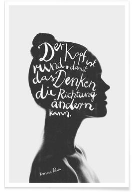 Denken -Poster