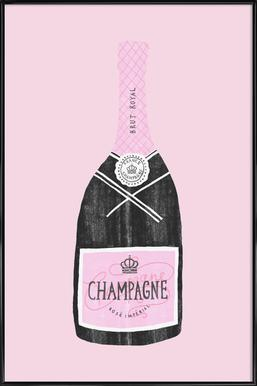 Champagne Poster in Standard Frame