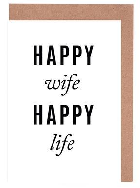 Happy Wife Set de cartes de vœux