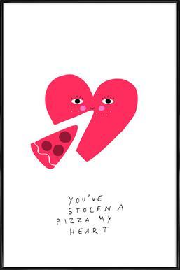 A Pizza My Heart affiche encadrée