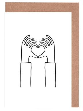 Heart You Set de cartes de vœux
