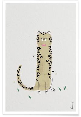 J - Alphabet des animaux Affiche