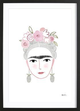 Frida Kahlo Poster in houten lijst