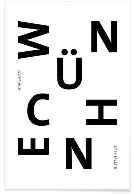 Cities - München Affiche