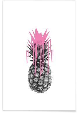 Pink Ananas Affiche