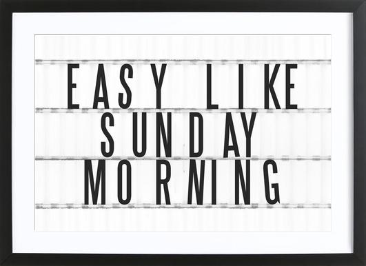 Sunday Morning affiche encadrée