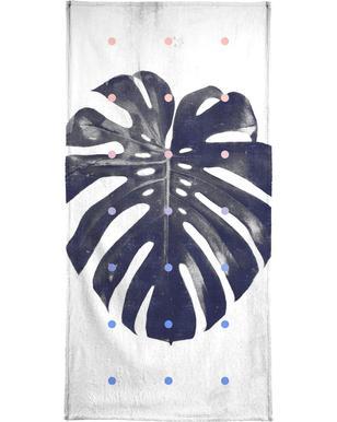 Monstera + dots Beach Towel