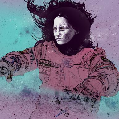 Astronaut 3 Canvas Print