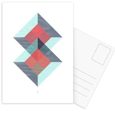 Translucent Geometry Green Ansichtkaartenset