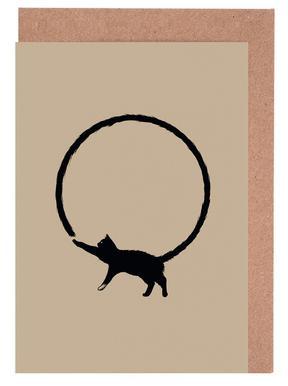 Cat Circle Grußkartenset