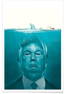 Trump Flat Swimmer Poster