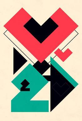 Love 2 play acrylglas print