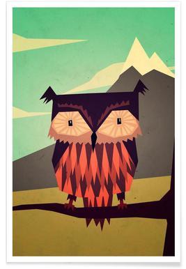 Critter Owl Poster