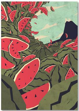Watermelon surf dream notitieblok