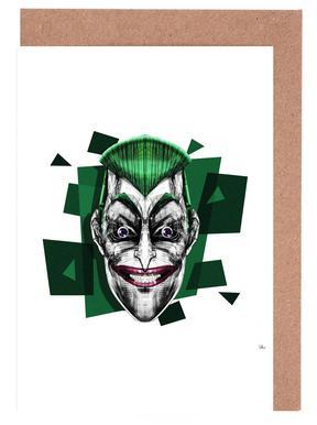 Joker greeting cards juniqe its a joke rubiant greeting card set m4hsunfo Images