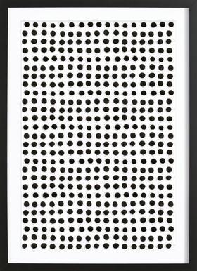 Ink Dots Framed Print