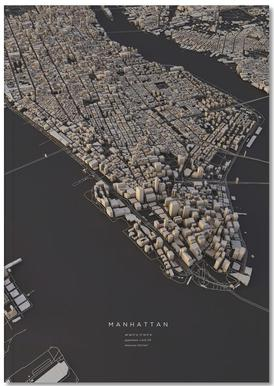 Manhattan City Map I Notitieboekje