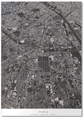 Paris City Map Notepad