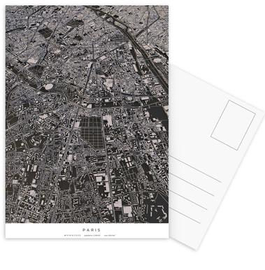 Paris City Map Postkartenset | JUNIQE CH