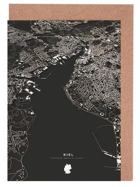 Kiel City Map Grußkartenset