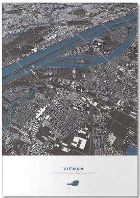 Vienna City Map Notepad