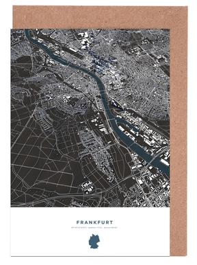 Frankfurt City Map Grußkartenset
