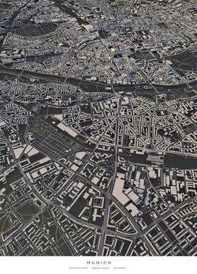 Munich City Map Canvas print