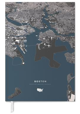 Boston Color City Map agenda