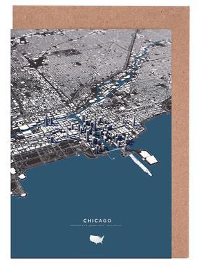 Chicago Color City Map wenskaartenset